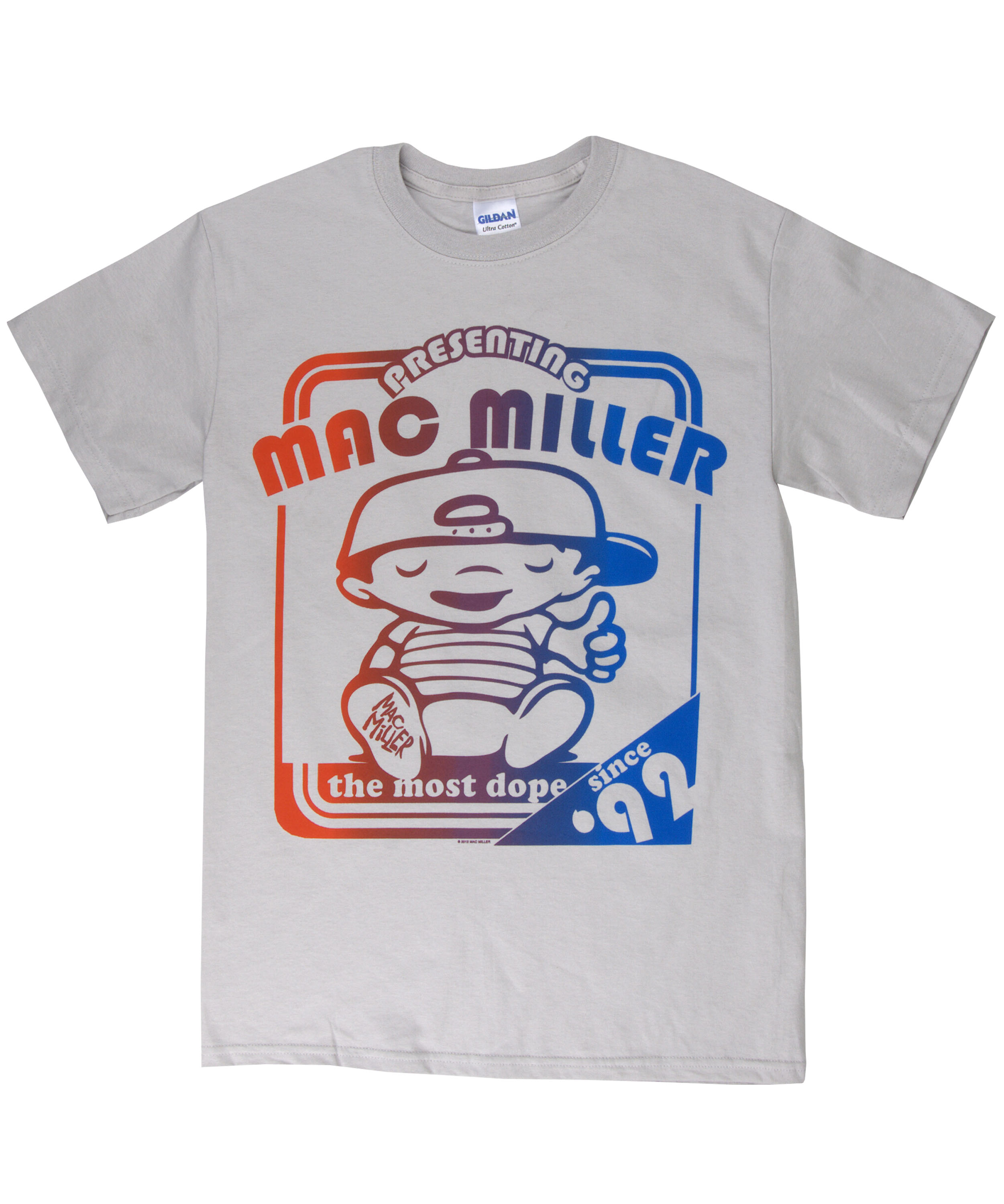Most Dope Ink: Mac Miller AUTHENTIC Grey Poster Most Dope Tee Shirt Men